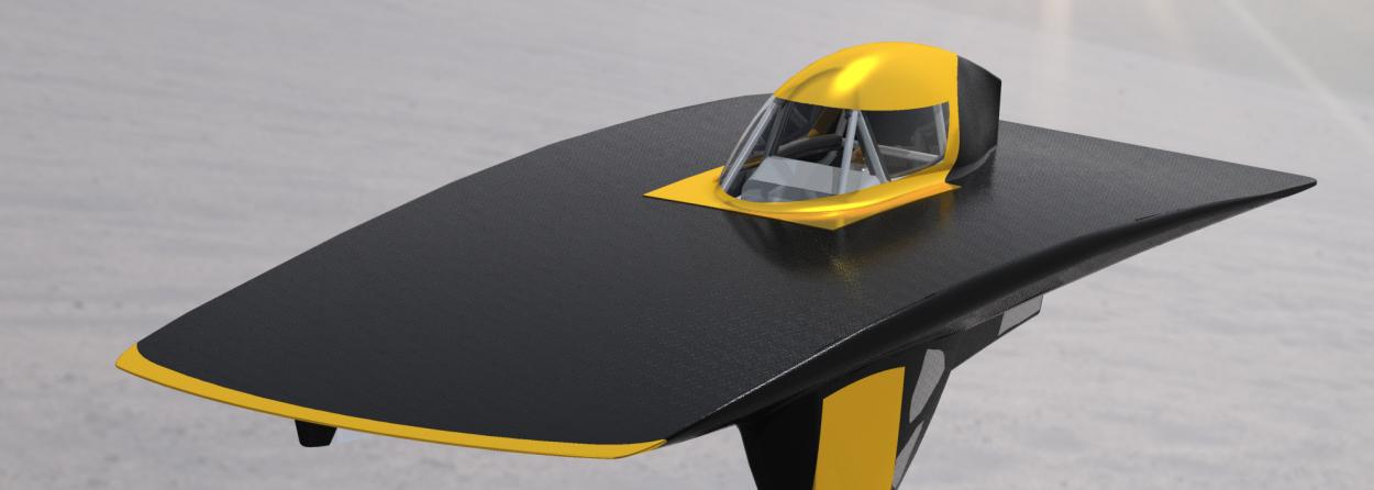 Rendering of Solar Car Shell